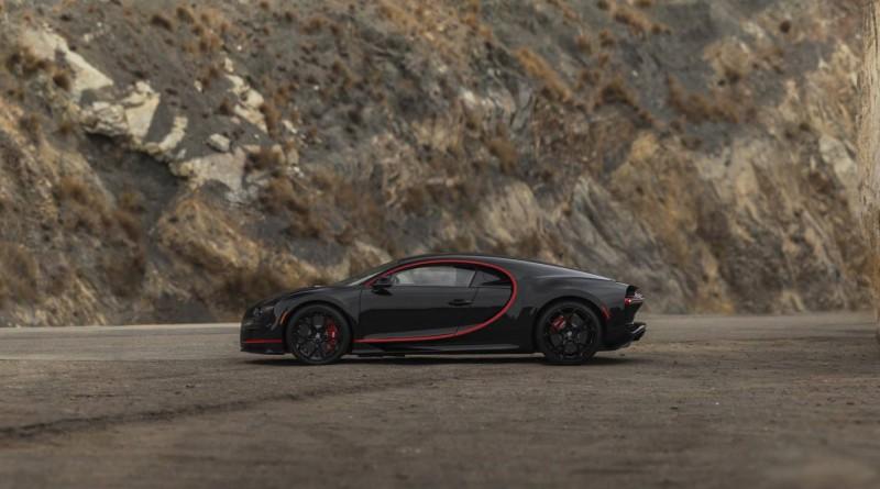 Black and Red Bugatti Chiron