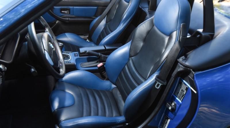 Estoril Blue BMW M Roadster Seats