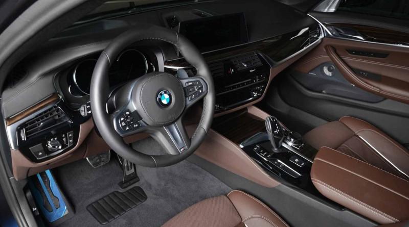 BMW M550i Brown Interior