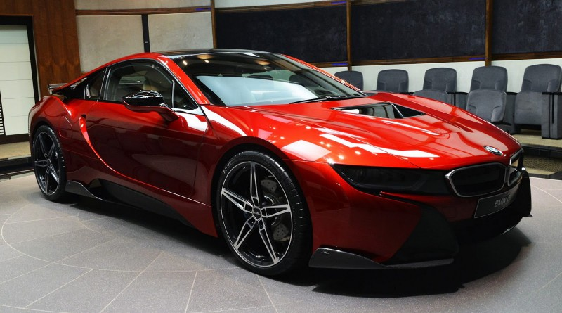 Lava Red BMW i8