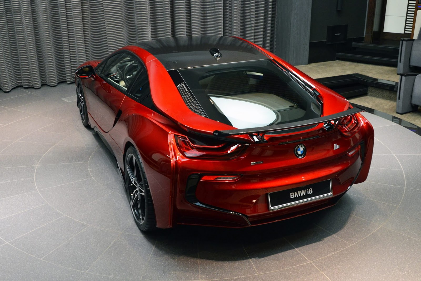 Lava Red Bmw I8 Built For A Princess In Abu Dhabi Supercar Report