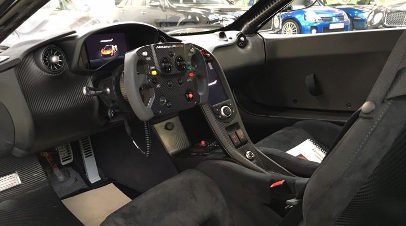 Black McLaren P1 GTR Interior