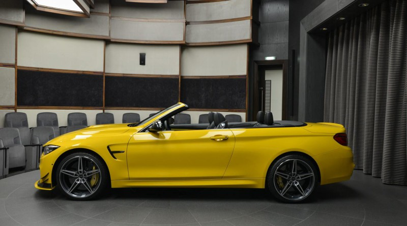 Speed Yellow BMW M4 Convertible