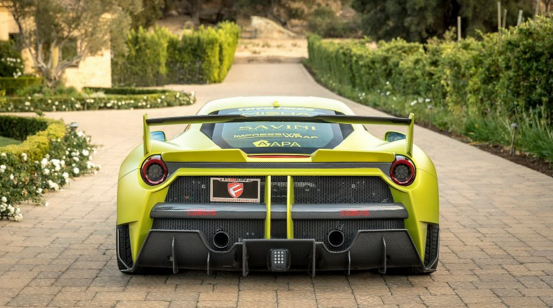 Satin Lime Green Misha Designs Ferrari 488