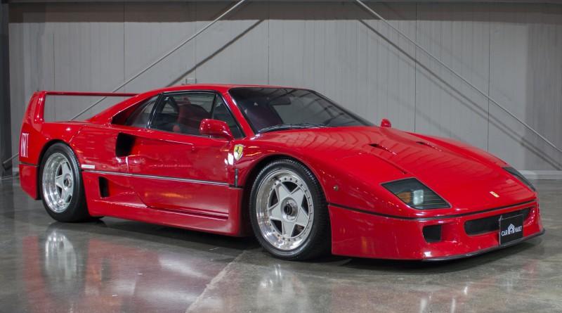 Red 1991 Ferrari F40
