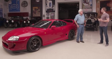 Jay Leno and Paul Walker's Brother Drive a Toyota Supra