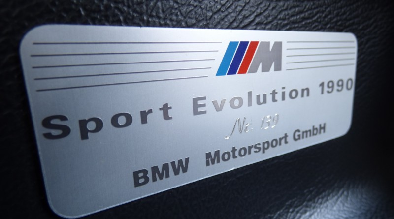 1990 BMW M3 Sport Evo Badge