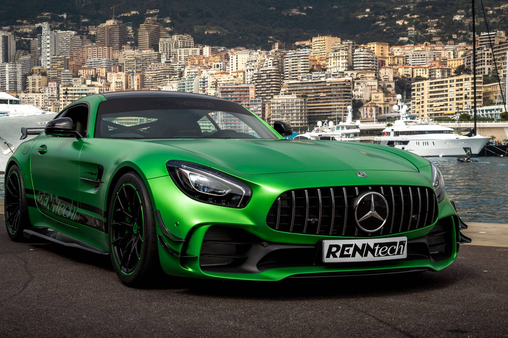 powerful renntech tuned mercedes amg gt r supercar report. Black Bedroom Furniture Sets. Home Design Ideas