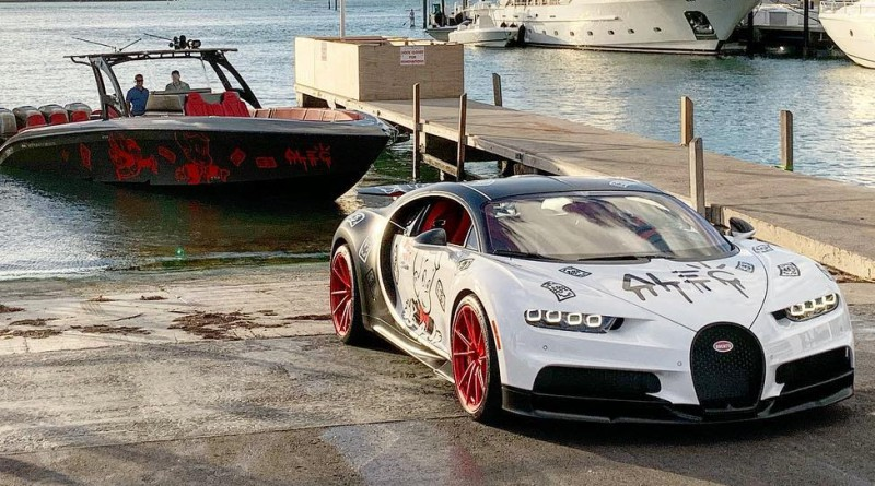 Spray Painted Bugatti Chiron