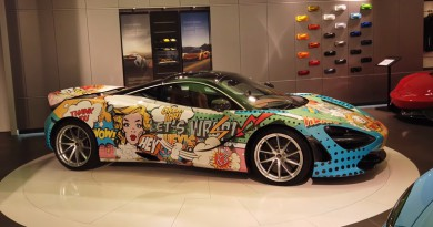 McLaren 720S with Custom Comic Book Wrap